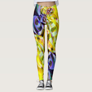 Yellow Purple  Fantasy Leggings