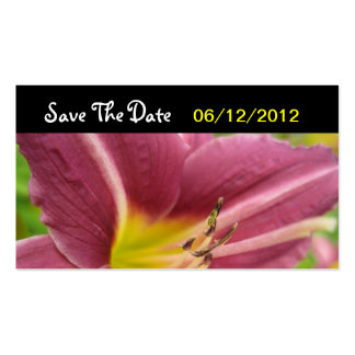 Yellow - Purple Flower Save The Date Wedding Card Pack Of Standard Business Cards