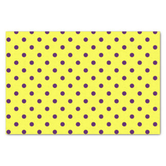Yellow & Purple Polka Dots Tissue Paper