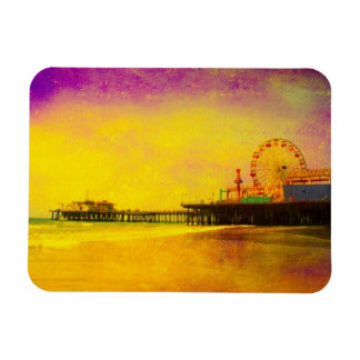 Yellow Purple Santa Monica Pier Magnet