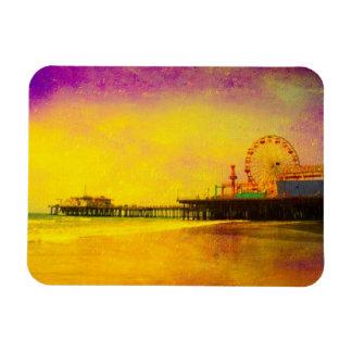 Yellow Purple Santa Monica Pier Magnet
