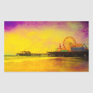 Yellow Purple Santa Monica Pier Sticker