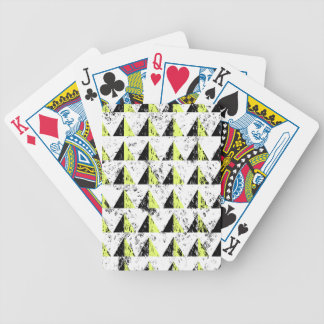 Yellow Pyramid Distressed Pattern Bicycle Playing Cards