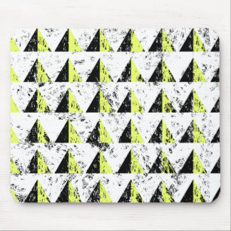 Yellow Pyramid Distressed Pattern Mouse Pad