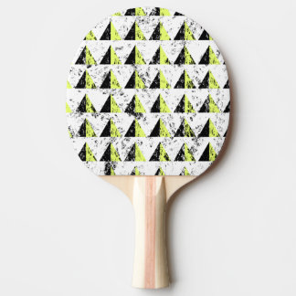 Yellow Pyramid Distressed Pattern Ping Pong Paddle