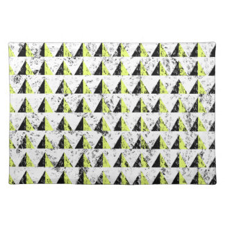 Yellow Pyramid Distressed Pattern Placemat