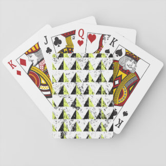 Yellow Pyramid Distressed Pattern Playing Cards