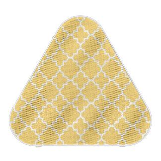 Yellow Quatrefoil Pattern Speaker