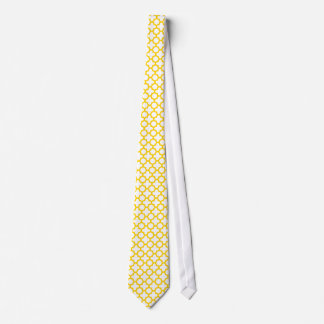 Yellow Quatrefoil Pattern Tie