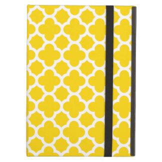 Yellow Quatrefoil Trellis Pattern iPad Air Case