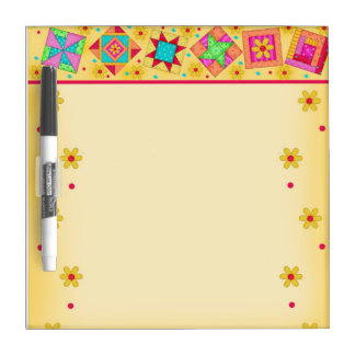 Yellow Quilt Block Dry Erase Board