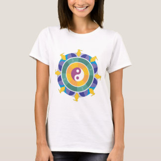 Yellow Rabbit Yin Yang Mandala T-Shirt