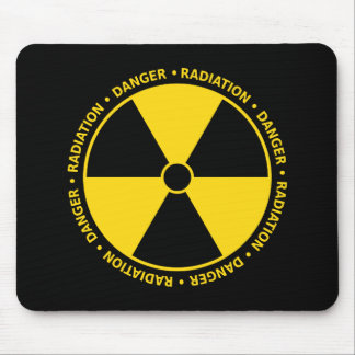 Yellow Radiation Symbol Mousepad