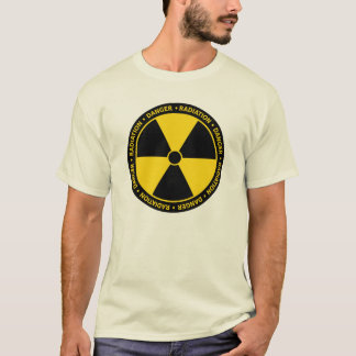 Yellow Radiation Symbol T-Shirt