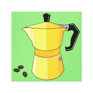 Yellow Rainbow Espresso Canvas Print