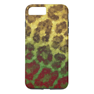 Yellow Red Abstract Cheetah iPhone 7 Plus Case