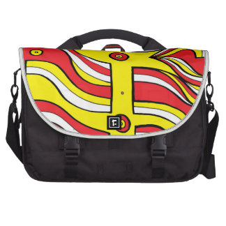 Yellow Red Abstract Laptop Computer Bag
