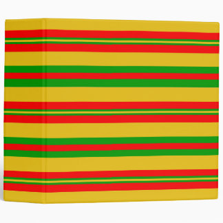 Yellow, Red and Green Stripes of Benin 2 3 Ring Binder