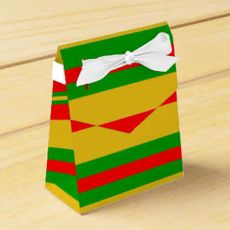 Yellow, Red and Green Stripes of Benin 2 Favor Box