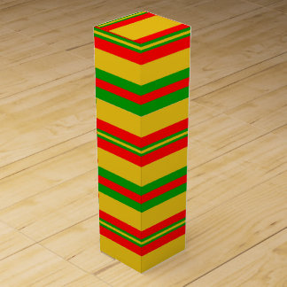 Yellow, Red and Green Stripes of Benin 2 Wine Box