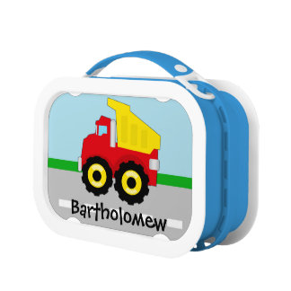 Yellow/Red Boys Dumptruck Construction Lunch Box