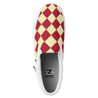 Yellow red checkerboard pattern