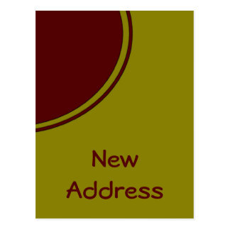 Yellow Red Circle New Address Postcard