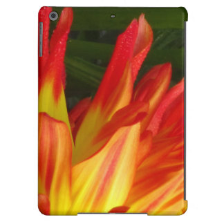 Yellow Red Dalia Flower iPad Air Covers