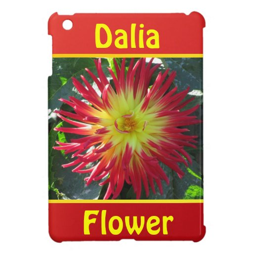 Yellow Red Dalia Flower Cover For The iPad Mini