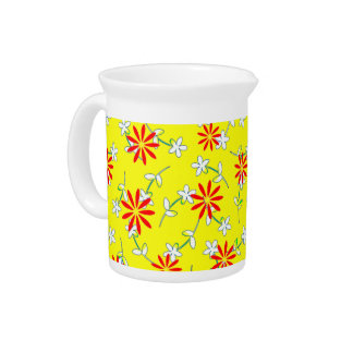Yellow Red Floral Sunshine 4Katie Pitcher