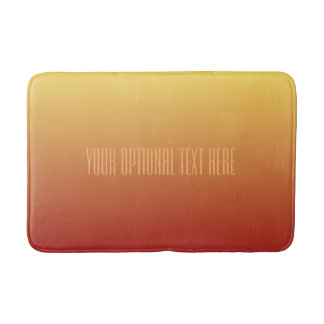 Yellow Red Gradient custom text bath mats