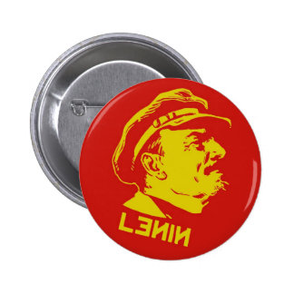 Yellow & Red Lenin Communist Artwork 2 Inch Round Button