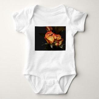 Yellow Red Rose Baby Bodysuit