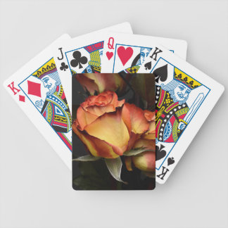 Yellow Red Rose Bicycle Playing Cards