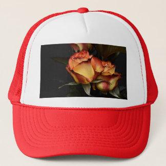 Yellow Red Rose Trucker Hat