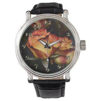 Yellow Red Rose Watch