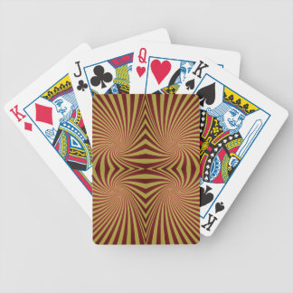 Yellow red spiral pattern bicycle playing cards