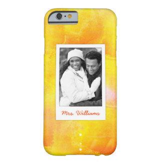 Yellow & Red Watercolor | Add Photo Barely There iPhone 6 Case