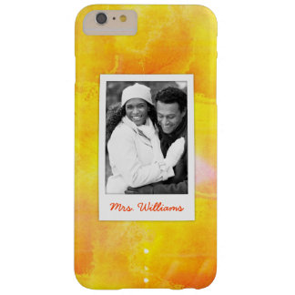 Yellow & Red Watercolor | Add Photo Barely There iPhone 6 Plus Case
