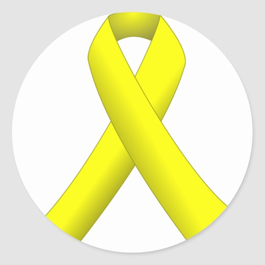 Yellow Ribbon Classic Round Sticker