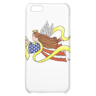 Yellow Ribbon Parriotic Angel iPhone 5C Case