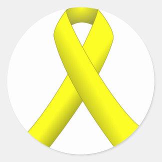 Yellow Ribbon Round Sticker
