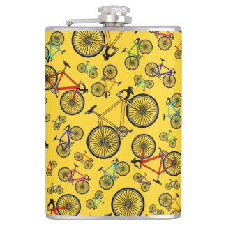 Yellow road bikes hip flask