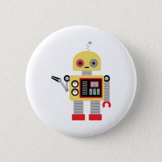 Yellow Robot 2 Inch Round Button