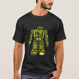 Yellow Robot on Black - Sci-Fi Geek Chic T-Shirt
