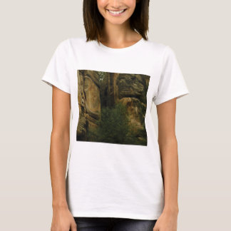 yellow rock face with trees T-Shirt