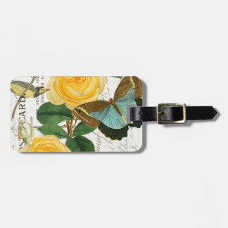 Yellow Romantic Roses Luggage Tag