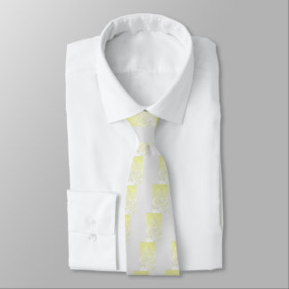 Yellow Rose Abstract Tie