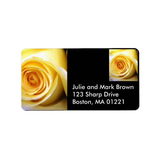 Yellow Rose Address Label