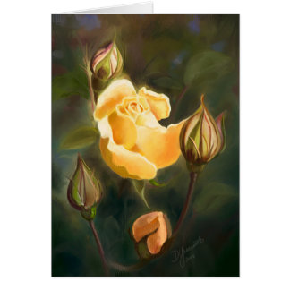 Yellow Rose and Buds Card